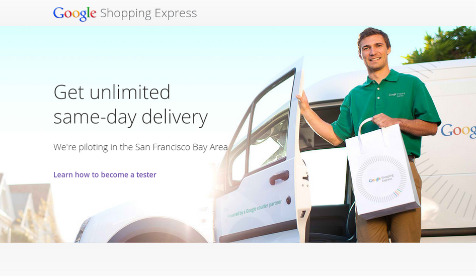 Google Express homepage